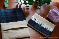 ふたつきポケットティッシュケースの作り方。画像でガイダンス Picnic Blanket, Outdoor Blanket, Wraps, How To Make, Pattern, Handmade, Hairstylists, Note, Tissue Paper