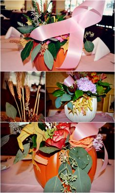 Seasonal designs by Glendora Florist provided for the Play for Pink fundraiser sponsored by the Glendora Country Club to raise money for breast cancer research.