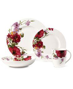 Mikasa Dinnerware, Garden Palette Bouquet 4 Piece Place Setting