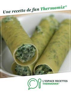 Cannelonis epinard chèvre par noursettle. Une recette de fan à retrouver dans la catégorie Plats végétariens sur www.espace-recettes.fr, de Thermomix®.