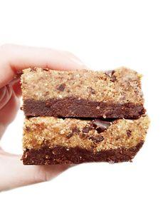 No Bake Chocolate Chip Cookie Brownies Bars