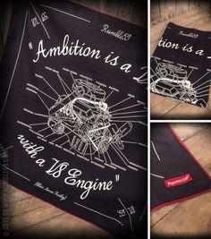 Rumble59 - Bandana - Ambition is a Dream #rumble59 #ambition #engine #v8 #elvis #bandana #rockabilly