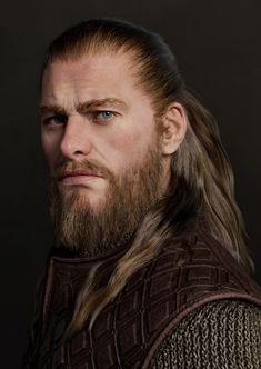 Art Photography Portrait, Male Photography, Medieval Fantasy, Dark Fantasy, Viking Character, Viking Men, Game Character Design, 3d Character, Comic