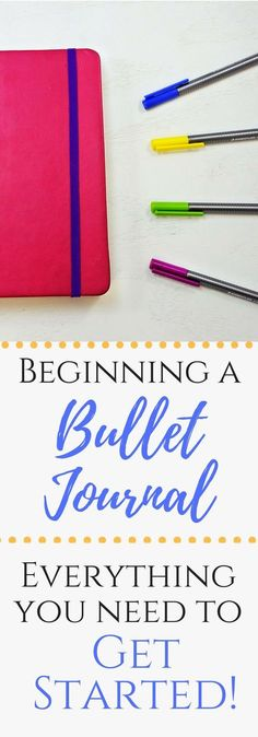 Everything you need to start your own Bullet Journal! #bulletjournal