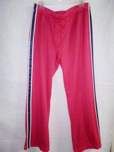 NEW Danskin Now Womens Pink Mesh Stretch Loose Sweat Pants  L 12-14 #DanskinNow #CasualPants