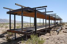 ASUL project borrego springs House On A Hill, My House, Residential Architecture, Architecture Design, Borrego Springs, Container Design, Small Buildings, Steel House, Forest House