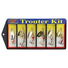 Buy the Panther Martin Deadly Spinners for Trout and more quality Fishing, Hunting and Outdoor gear at Bass Pro Shops. Trout Fishing Lures, Fly Fishing, Channel Catfish, Six Packs, Panther, Bass, Shops, Packing, Bag Packaging