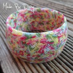 Pastel Wide Candy Bangle Cake Sprinkles Resin.
