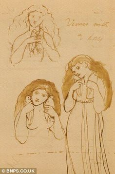 Revealing: Three previously unknown drawings by the Pre-Raphaelite master Dante Gabriel Rossetti have been discovered
