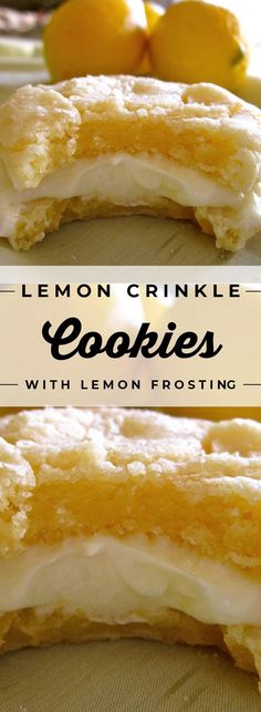 Lemon Crinkle Cookies With Lemon Frosting If you are looking for an easy, restaurant-quality Cookies Recipes , you've come to the right pin! Cake Mix Cookie Recipes, Easy Cheesecake Recipes, Chocolate Cookie Recipes, Best Cookie Recipes, Sugar Cookies Recipe, Baking Recipes, Chocolate Chips, Cookie Favors, Baking Cookies