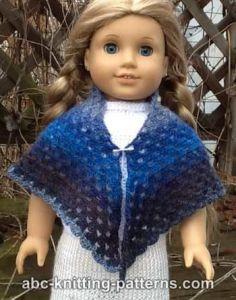 Free crochet pattern. Pattern category: Doll Clothes American Girl Doll. Fingering weight yarn. 0-150 yards. Features: Granny, Granny Square. Easy difficulty level.
