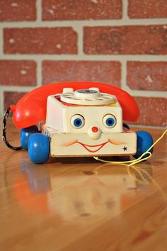 1961's fisher-Price phone wood phone 1961's toys by PastelEtPixel