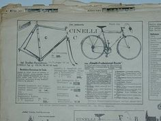 A Cinelli catalogue from 1960
