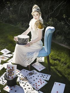 'Who cares for you?' said Alice, (she had grown to her full size by this time.) `You're nothing but a pack of cards!'