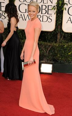 Emma Stone in Calvin Klein at the Golden Globes Red Carpet 2012