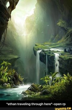 I want to runaway and end up here landscape art, fantasy landscape, fantasy trees Fantasy Places, Fantasy World, Fantasy Forest, Fantasy Trees, Magic Forest, Forest Art, Forest River, Mystical Forest, Fantasy Landscape
