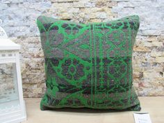 kilim pillow / bohemian kilim pillow / tribal pillow / nomadic kilim pillow / bedding pillow / wool pillow / 16x16 pillow cover / code 7620 Patio Pillows, Rustic Pillows, Wool Pillows, Bohemian Pillows, Bed Pillows, Sofa Pillow Covers, Aztec Pillows, Armchair, Bedding