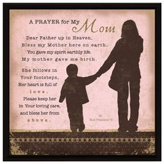Amazon.com - Prayer..My Mom Wood Frame Plaque with Easel - Decorative Plaques
