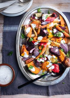 This dressing is so simple yet tastes fantastic and gives roast vegetables an interesting spicy twist. Sumac should be available in supermarkets within the spice section.