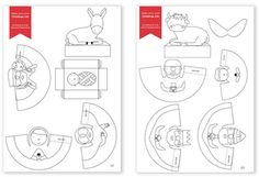 Printable Nativity Set for kids to color and assemble