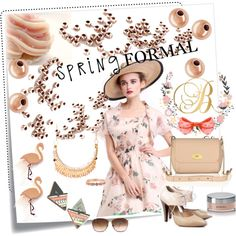 Spring Formal by alexandra-balau on Polyvore featuring Post-It