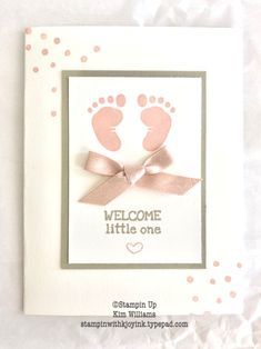 Ideas Baby Cards Simple Stampin Up New Baby Cards, New Baby Gifts, Baby Presents, Baby Shower Cards, Baby Shower Gifts, Pink Cards, Card Tags, Card Kit, Baby Crafts