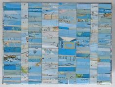 deconstructed map collage from tofuart on etsy