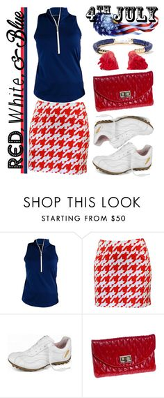 """""""Red, White and Blue Fashion"""" by lorisgolfshoppe on Polyvore featuring Jofit, Aurélie Bidermann, redwhiteandblue and july4th"""