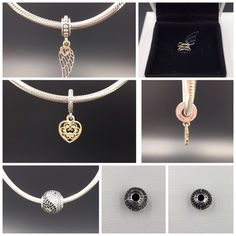 "Pandora Bundle for @tisha4160b New (NWOT) Pandora bundle. Includes 1 ""Love & Guidance"" charm, 1 ""Magnificent Heart"" charm and 1 ""Balance"" Essence charm. Sterling silver and 14K gold. Properly hallmarked S925 ALE. Pandora box not available. Thank you and happy Poshing!! Pandora Jewelry Bracelets"