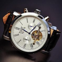 Men's Watch / Vintage Watch / Handmade Watch, Leather Watch / Automatic Mechanical Watches
