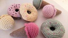 Fée du tricot: Dinette pastel : Donuts et glace au crochet #tuto ...
