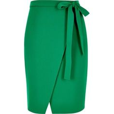 River Island Green wrap skirt