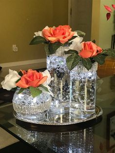 95 romantic diy floating candles crafts ideas page 00005 Shower Centerpieces, Wedding Table Centerpieces, Floral Centerpieces, Floral Arrangements, Wedding Decorations, Centerpiece Ideas, Bling Centerpiece, Floating Candle Centerpieces, Quinceanera Centerpieces