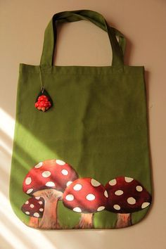 Hand Painted Tote Bag by zeyc on Etsy, $24.00