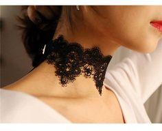 Aliexpress.com: Comprar Negro Lace Choker Collar Mujeres chockers Boho flor Gargantillas Góticas 2016 Moda collar de la vendimia de collar de la joyería de diseño fiable proveedores en SHBOCH Store