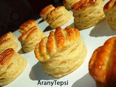 AranyTepsi: Hajtogatott sajtkrémes pogácsa