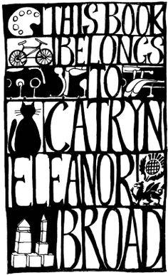 bookplate of Catryn Eleanor Broad