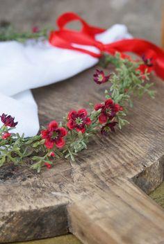 flower crown floral crown delcate wreath wedding flower by mamwene
