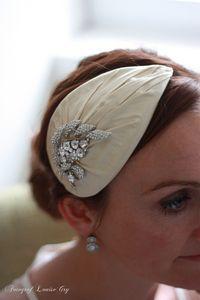 vintage style wedding hat, Lady guinevere silk hat. $139.00, via Etsy.