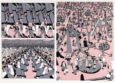 Pushwagner - En dag i familien Manns liv: nr 19 - Frihet James Rosenquist, Claes Oldenburg, Jasper Johns, Roy Lichtenstein, Modern Art Paintings, Hare Krishna, Andy Warhol, Storyboard, Aliens