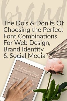 Making a decision on font combinations for web design, branding and social media is one of the primary functions of branding your business. Fonts are part of your logo, your identity and everything you put out onto the web. Learn font character, class and how to pair them in this post. #branding #socialmedia #fonts #website