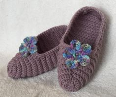 Crocheted Ribbed Slippers | Craftsy