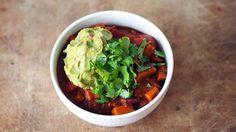 Chili sin carne med guacamole