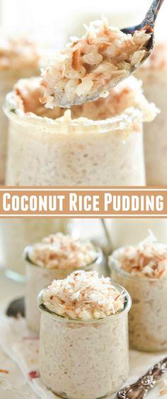 Coconut Rice Pudding: A Disney Cruise Copycat Recipe! Made extra creamy with coconut milk! #dessert #coconut #rice