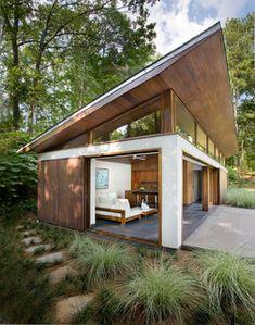 Nancy Creek Guesthouse and Pool - modern - pool - atlanta - by Philip Babb Architect