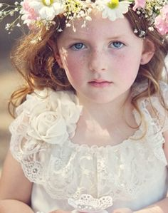 Flower Girls & Ring Bearers: Ethereal Flower Girl // by Tindale images on Polka Dot Bride