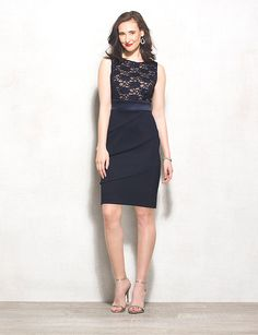 Lace Sequin Tiered Dress