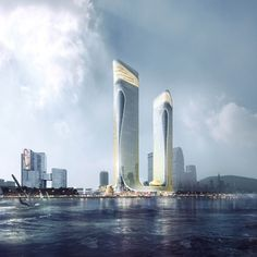 The design of Zhuhai Hengqin Headquarters Complex is set to be an integrated cultural tourism-oriented complex. #architecture #architect #archi #archidaily #instagood #instadesign #instadaily #design #view #Zhuhai #珠海 #office #retail #leisure #entertainment #tourism #lifestyle #dynamic #complex #landmark #culture #inspired #dragons #pearl #follow #instafollow