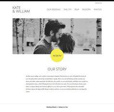 Kate & William Wedding Website #wedding #website #bride #groom #bigday #web Wedding Website, Big Day, Rsvp, Charity, Our Wedding, Bride Groom