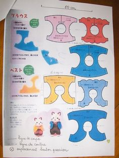 vêtements pour Sylvanian (explications, patrons, tutoriels ) nouveautés avec tuto.: charlotte pour lapine p61, châle en tissu p63, coussin de chaise page 64, chapeaux masculins p 65, casquette p66 - Page 3